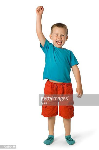 cheering boy | winner - bermuda shorts stock pictures, royalty-free photos & images