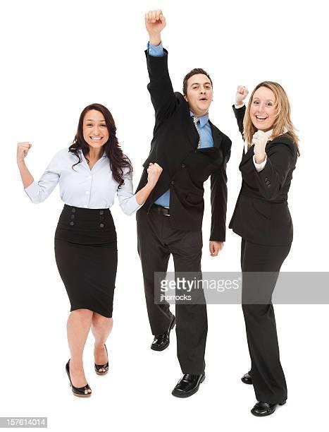 Cheering Business Team