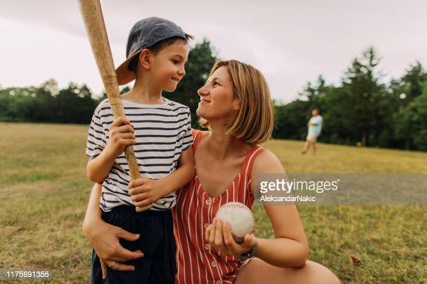 cheering for my little player - softball sport stock pictures, royalty-free photos & images