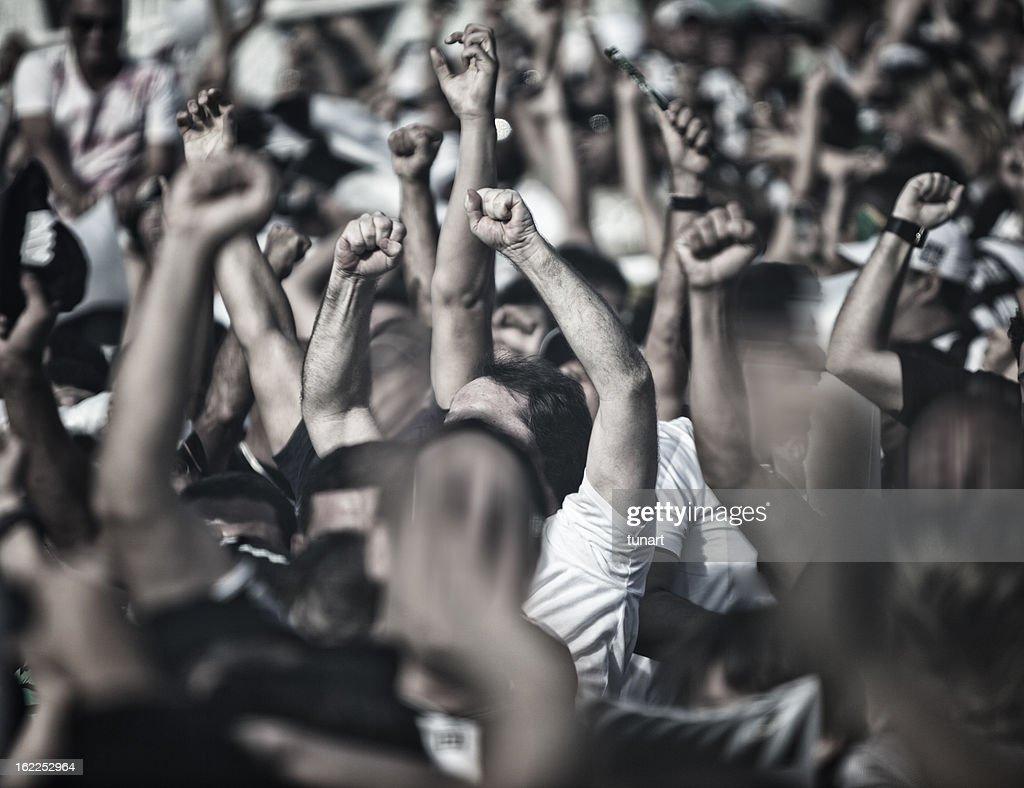 Cheering People : Stock Photo