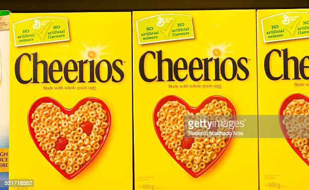 Cheerios is an American brand of breakfast cereals manufactured by General Mills consisting of pulverized oats in the shape of a torus