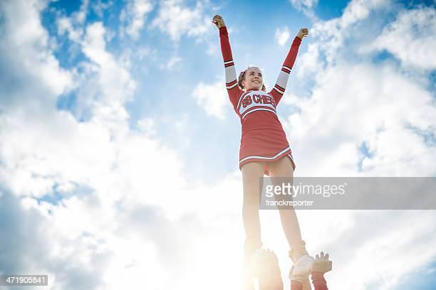 Cheerleadear auf den Erfolg