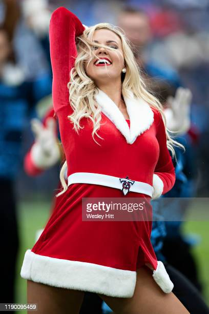Cheerleader of the Tennessee Titans performs in the first half of a game against the New Orleans Saints at Nissan Stadium on December 22 2019 in...