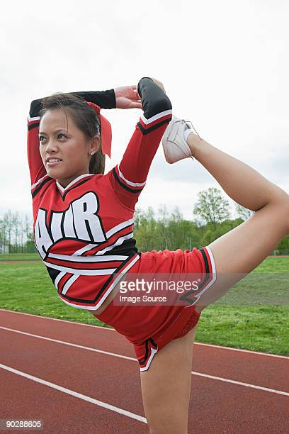 Cheerleader strectching
