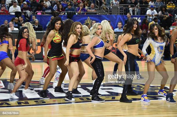NBA cheerleaders attend the 2017 NBA AllStar Celebrity Game at MercedesBenz Superdome on February 17 2017 in New Orleans Louisiana