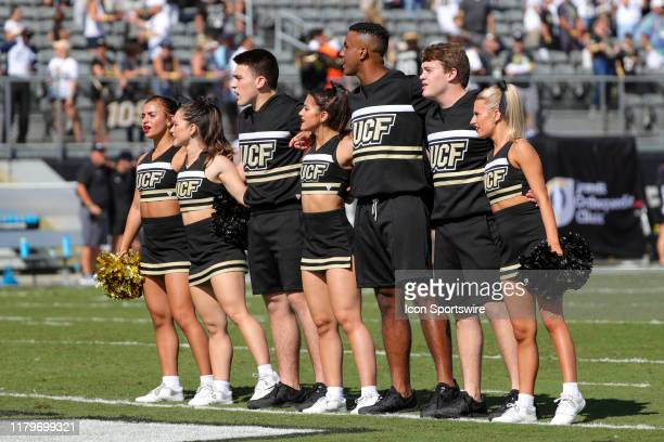 UCF cheerleaders before the football game between the Houston Cougars and UCF Knights on November 2 at Spectrum Stadium in Orlando FL