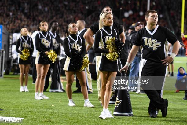 UCF cheerleaders during a college football game between the University of Central Florida Knights and Cincinnati Bearcats on October 4 2019 at...