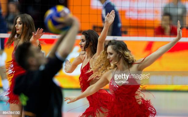 Cheerleaders during FIVB Volleyball Men's World Championship 3rd place match between Skra Belchatow and Sada Cruzeiro on 17th December 2017 in Krakow...