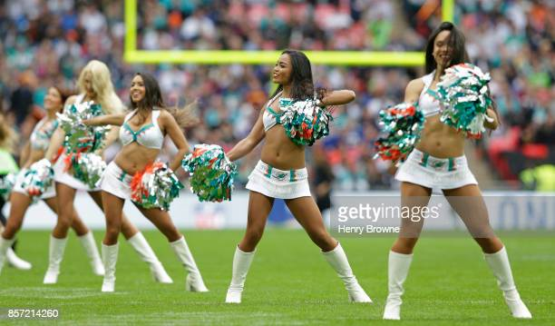Cheerleaders during the NFL game between the Miami Dolphins and the New Orleans Saints at Wembley Stadium on October 1 2017 in London England