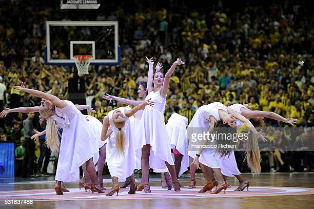Cheerleaders during the Turkish Airlines Euroleague Basketball Final Four Berlin 2016 Championship game between Fenerbahce Istanbul v CSKA Moscow in...