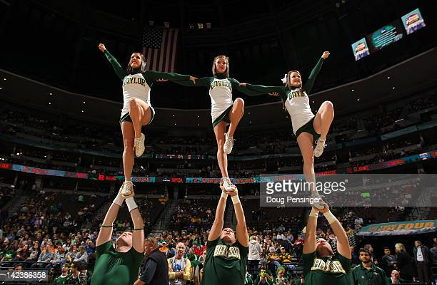 Cheerleaders from the Baylor Bears perform against the Notre Dame Fighting Irish during the National Final game of the 2012 NCAA Division I Women's...