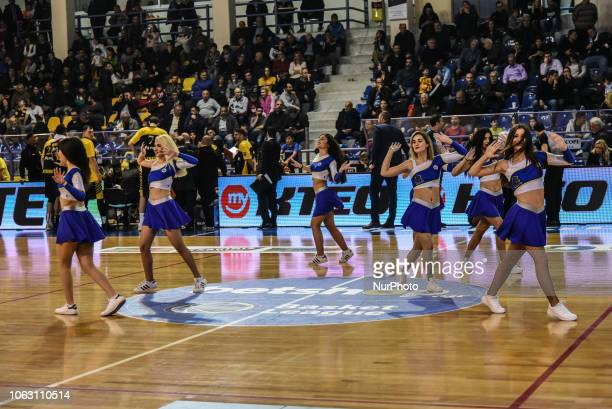 Cheerleaders of Kymis BC during Griechenland Basket League match between Kymis BC and AEK Athens BC in Chalkida Greece on November 17 2018 Final...
