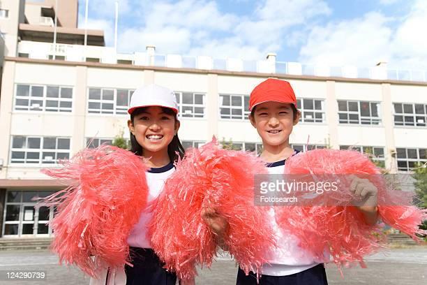 Cheerleaders on Sports Day