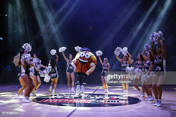 Cheerleaders perform during the round one NBL match between Melbourne United and Adelaide 36ers at Hisense Arena on October 9 2016 in Melbourne...