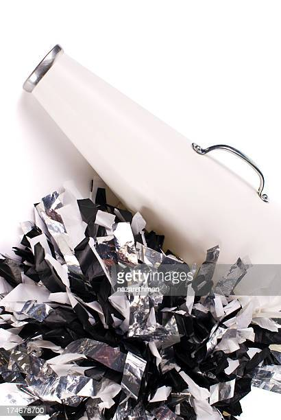 cheerleading megaphone - pom pom stock pictures, royalty-free photos & images
