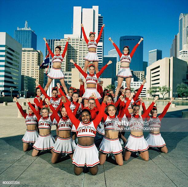 Cheerleading squads compete in the National Cheerleaders Association's All Star Competition