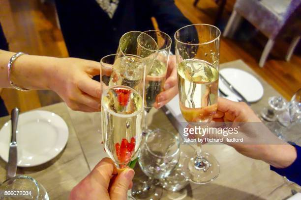 cheers - a celebration with champagne - happy birthday richard stock pictures, royalty-free photos & images