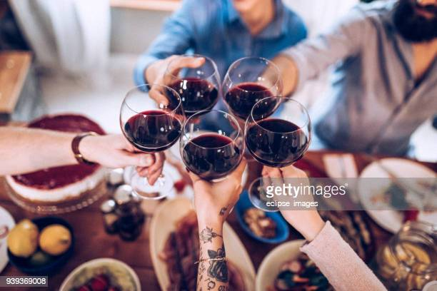 cheers my driends - wine stock pictures, royalty-free photos & images