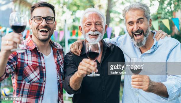 cheers! - fathers day stock pictures, royalty-free photos & images