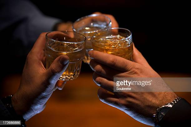 cheers! - whisky stock photos and pictures