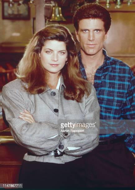 Cheers stars Kirstie Alley and Ted Danson pose for a portrait in October 1983 in Los Angeles California
