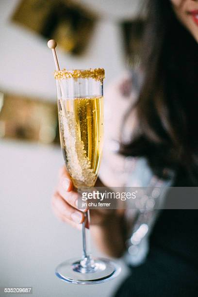 cheers to 2015! - champagne coloured stock photos and pictures