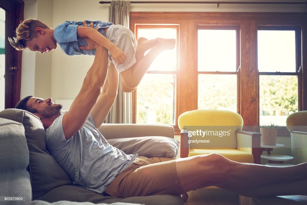 Cheers to all those strong father figures out there : Stock Photo