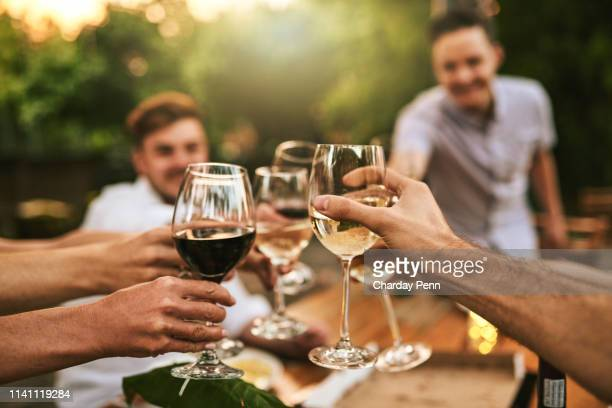cheers to great memories - wine glass stock pictures, royalty-free photos & images