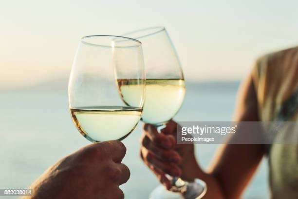 cheers to happily ever after - white wine stock pictures, royalty-free photos & images