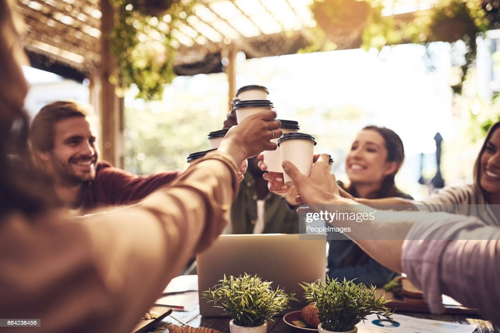 Cheers to having more successful meetings : Stock Photo