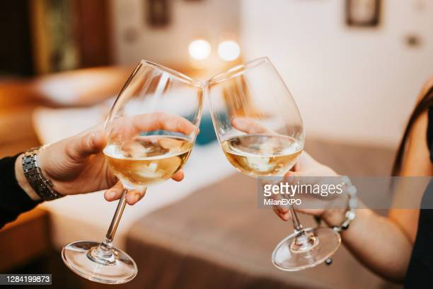 cheers to success - white wine stock pictures, royalty-free photos & images