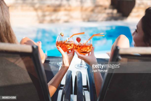cheers to the teenage years - pool stock pictures, royalty-free photos & images