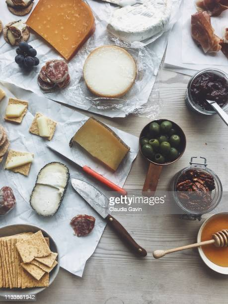 cheese and accoutrements - pepperoni stock photos and pictures