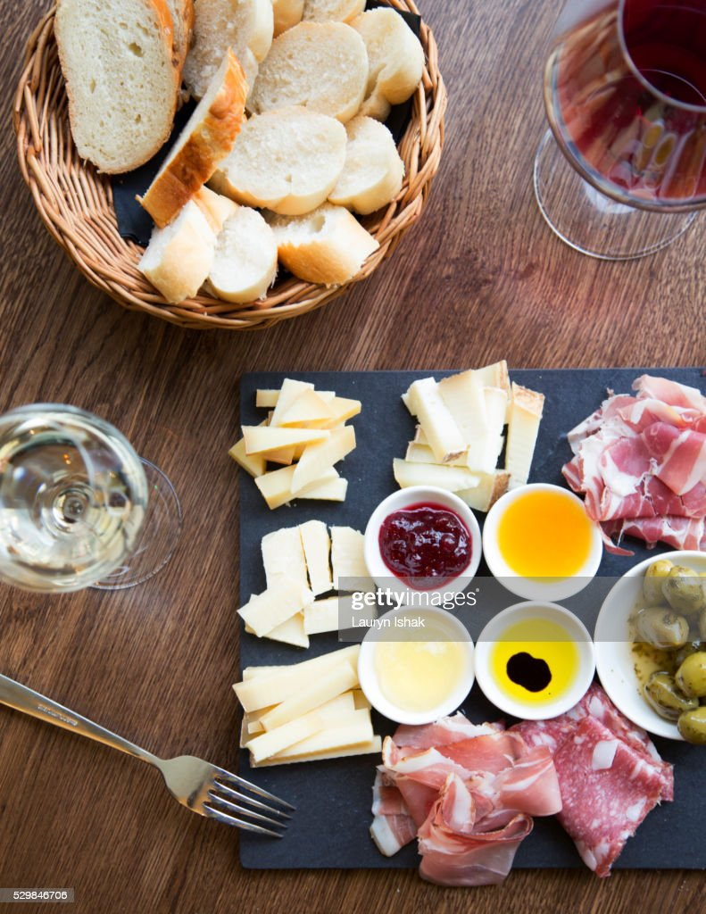 Cheese and Charcuterie Plate : Stock Photo