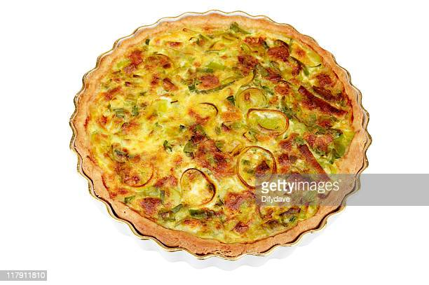 Cheese And Leek Flan In Dish
