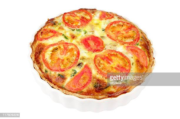 Au fromage et tomates Flan à plat