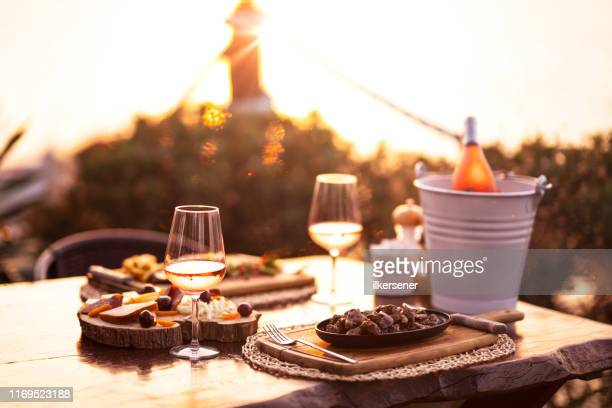cheese and wine platter - french food stock pictures, royalty-free photos & images