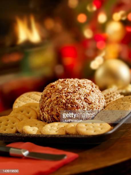 Boulette de fromage et Crackers à la période de Noël