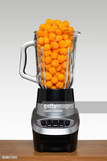 Cheese balls in a blender