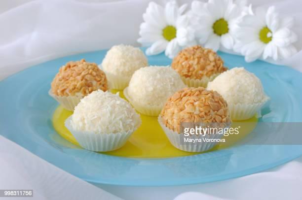 Cheese balls with cherries