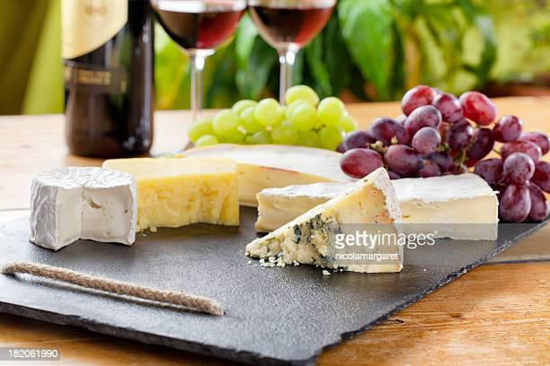 Cheese board and red wine