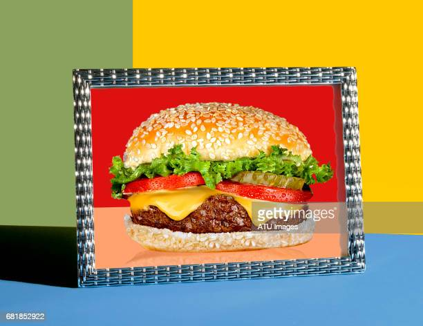 cheese burger - sliced pickles stock photos and pictures