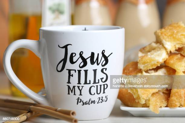 cheese danish and coffee - nanette j stevenson stock photos and pictures