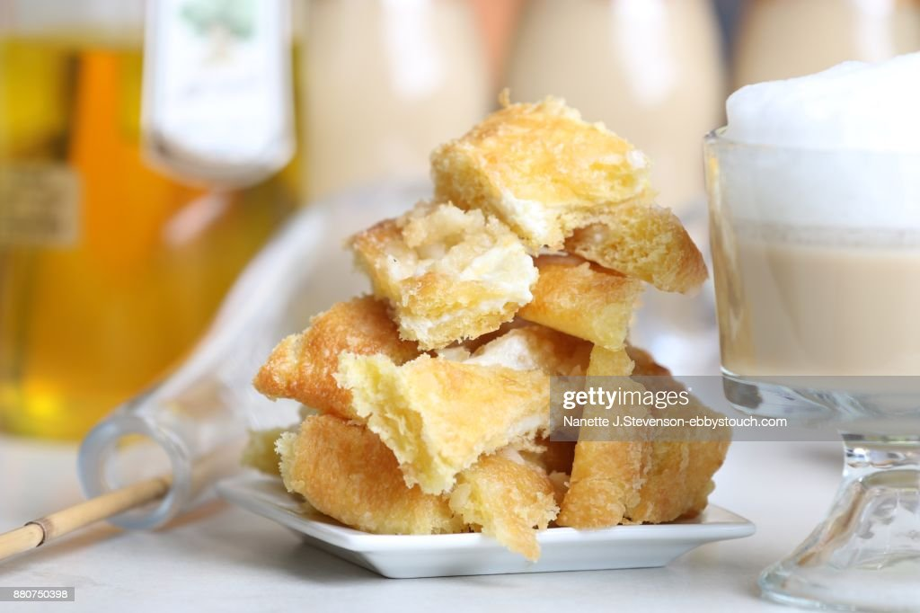 Cheese danish and coffee : Stock Photo