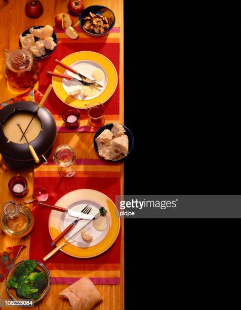 Cheese Fondue Table Setting