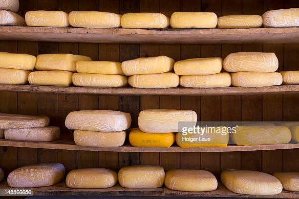 cheese for sale at cheese shop. - puerto montt fotografías e imágenes de stock