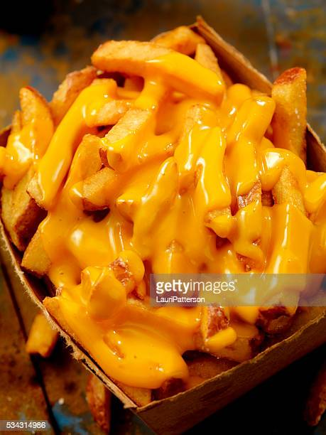 cheese fries - cheese sauce stock photos and pictures