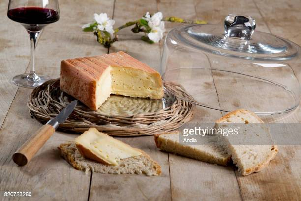 Maroilles cheese unpasteurized farm cheese soft cheese with an orangeyred washed rind
