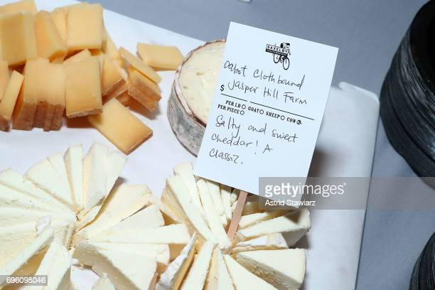 Cheese from Saxelby Cheesemongers is served during Housing Works taste of home 2017 on June 14 2017 in New York City