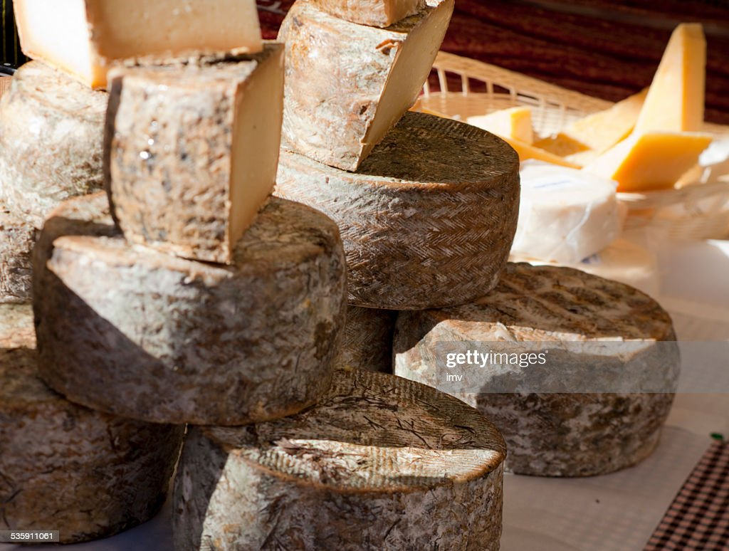 Cheese in Market table : Stock Photo